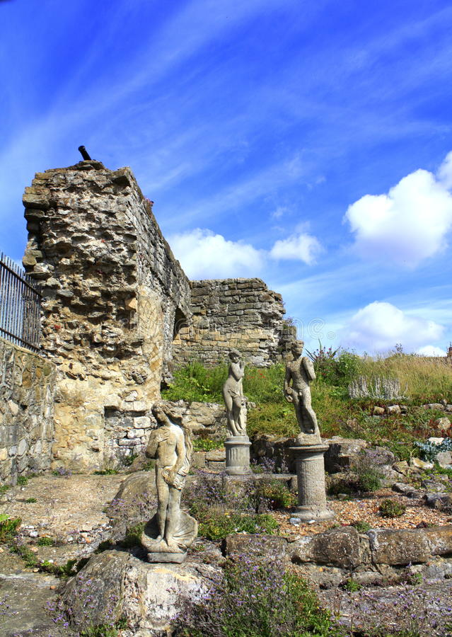 Estátuas do jardim foto de stock royalty free