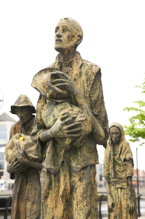 Estátuas do memorial da fome imagens de stock royalty free