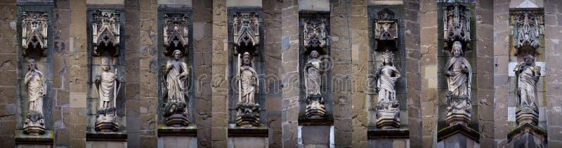 Estátuas góticos de Saint foto de stock royalty free