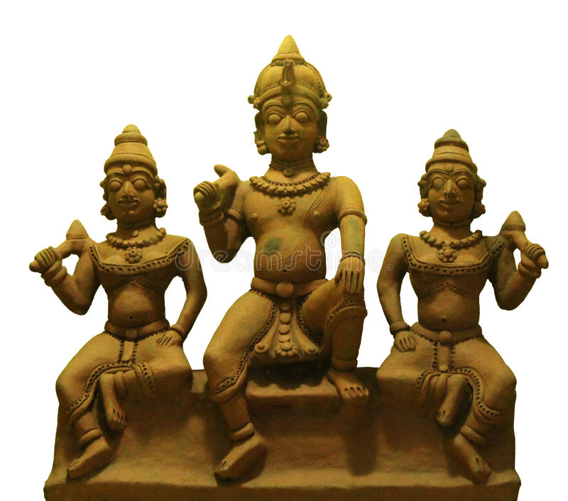 Estátuas indianas do deus da vila imagens de stock