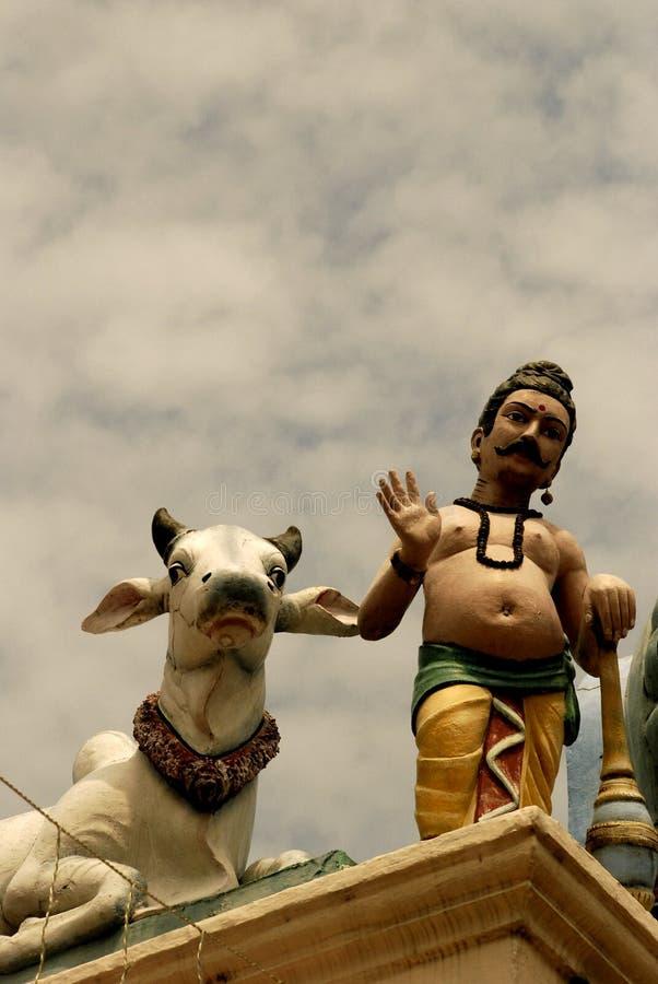 Estátuas indianas do templo foto de stock