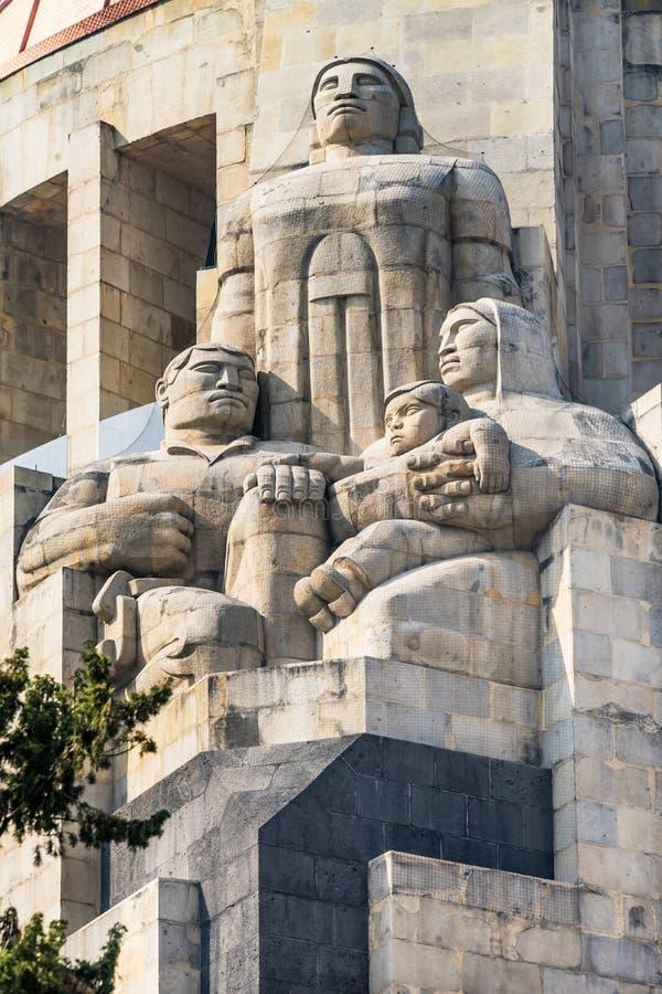 Estátuas indianas monumento Cidade do México México de 1910 revoluções fotos de stock royalty free