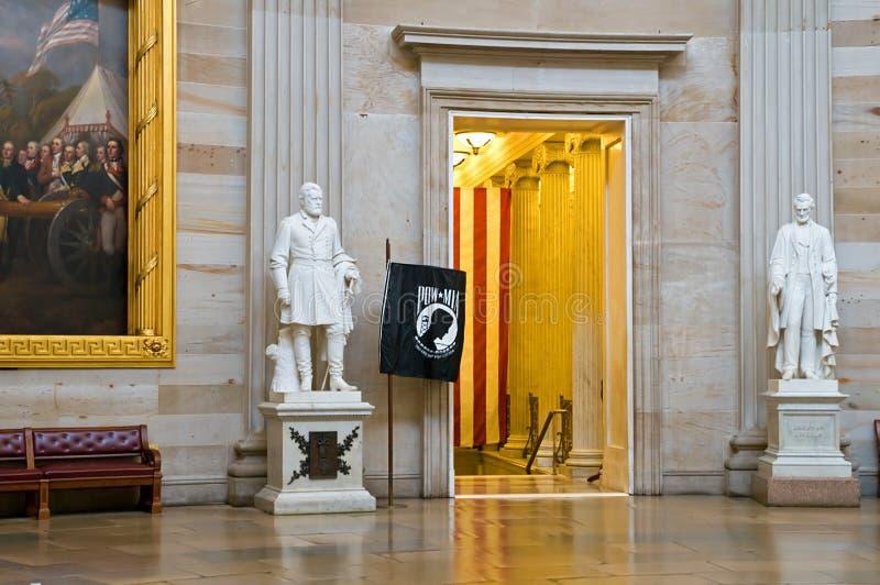 Estátuas no Capitólio dos E.U. Rotunda foto de stock royalty free