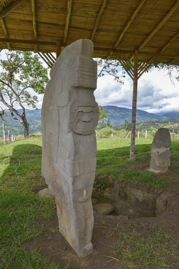 Estátuas pre-columbian antigas em San Agustin, Colômbia imagem de stock royalty free