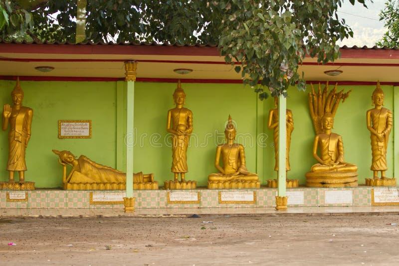 Estátuas tradicionais da Buda em Nabo Noi fotos de stock royalty free
