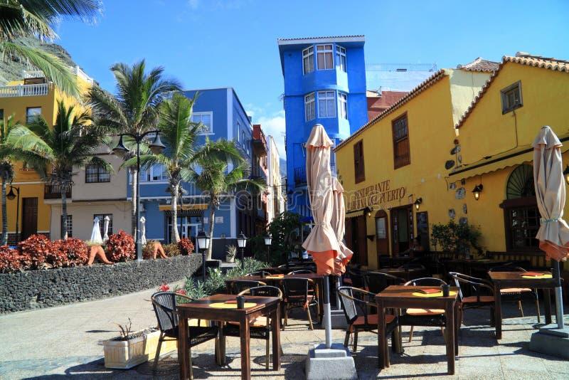 Estância balnear pequena Tasa Corte no La Palma fotografia de stock