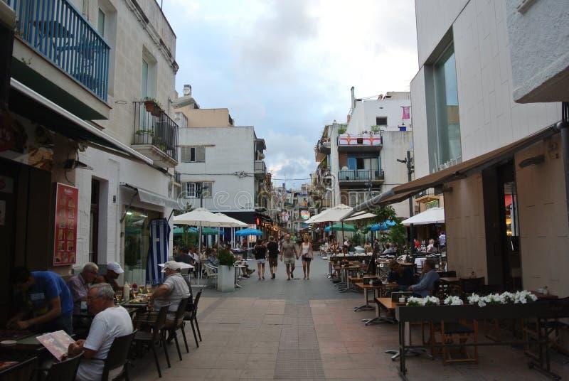 Estância balnear Sitges em Costa Dorada, Espanha foto de stock royalty free