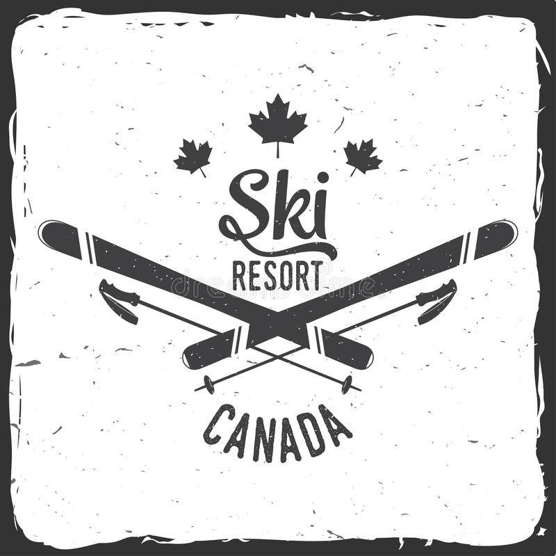 Estância de esqui, Canadá ilustração do vetor