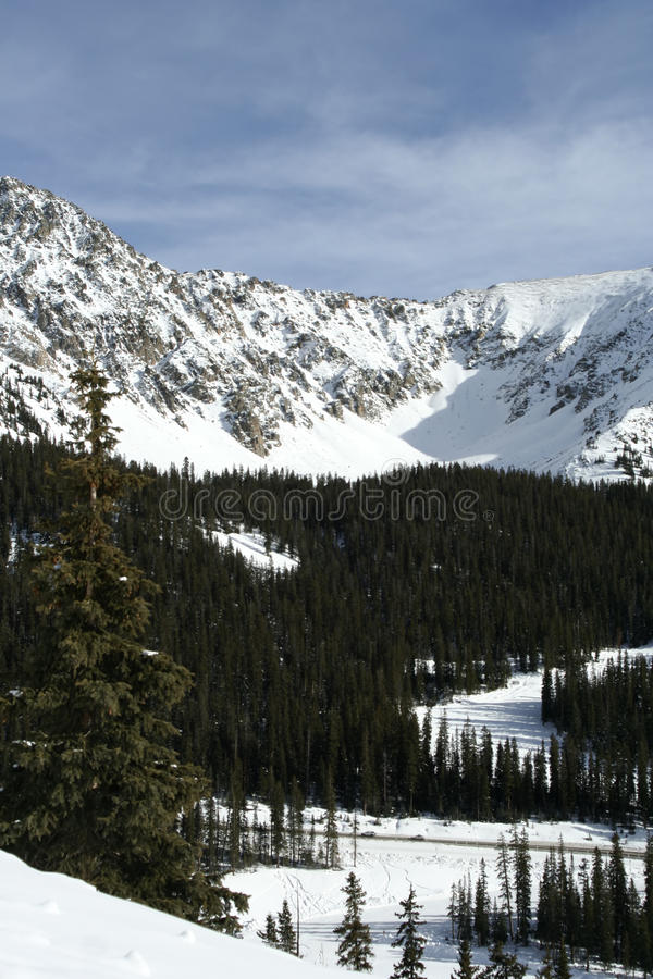Estância de esqui da bacia do Arapahoe foto de stock