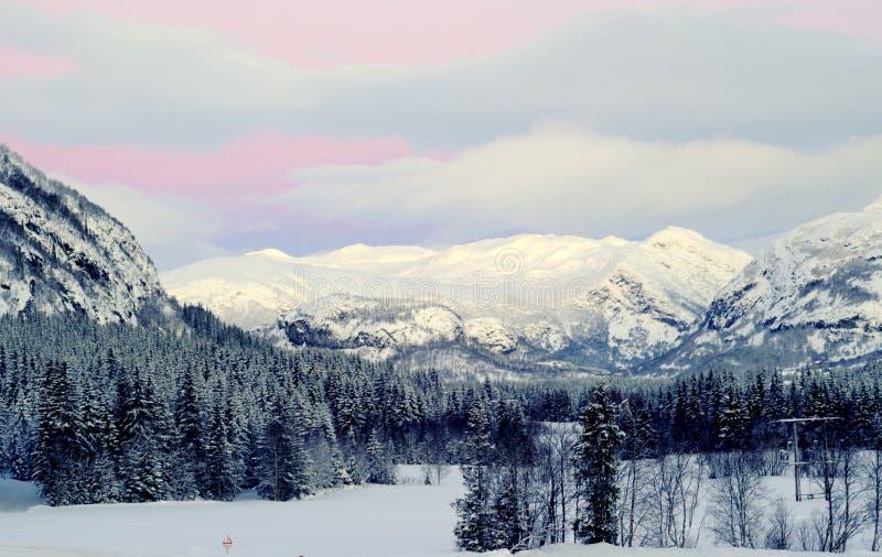 Estância de esqui de Hemsedal, Noruega fotografia de stock royalty free