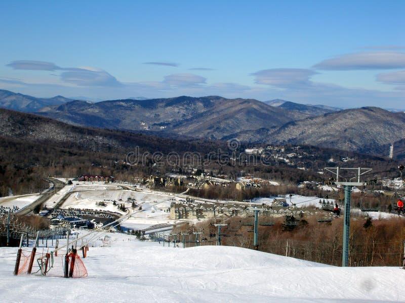 Estância de esqui de Killington, VT imagem de stock royalty free