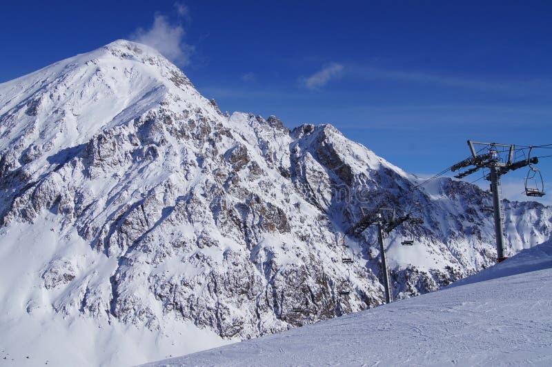 Estância de esqui de Montgenevre fotografia de stock