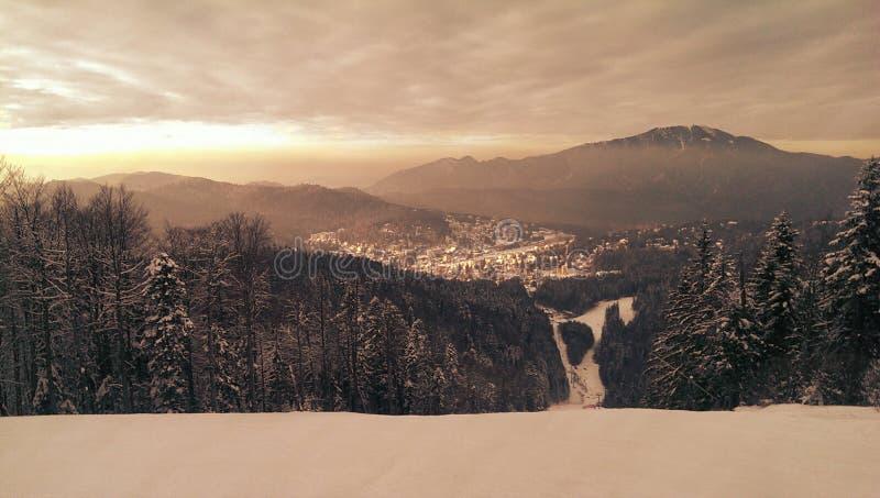 Estância de esqui de Predeal em Romênia imagem de stock
