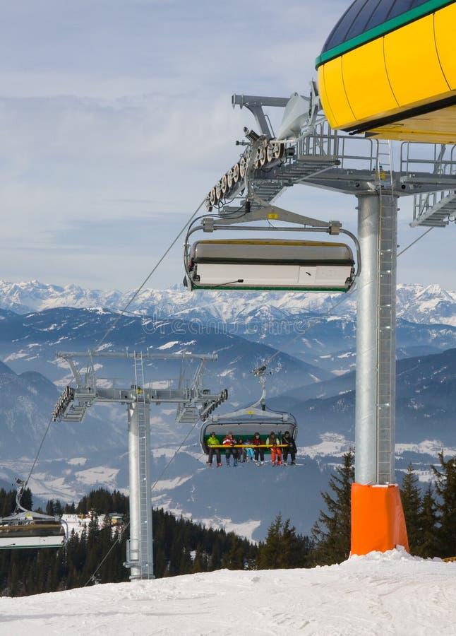 Estância de esqui Schladming. Áustria imagens de stock