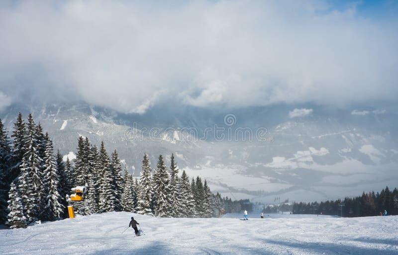 Estância de esqui Schladming. Áustria imagem de stock royalty free