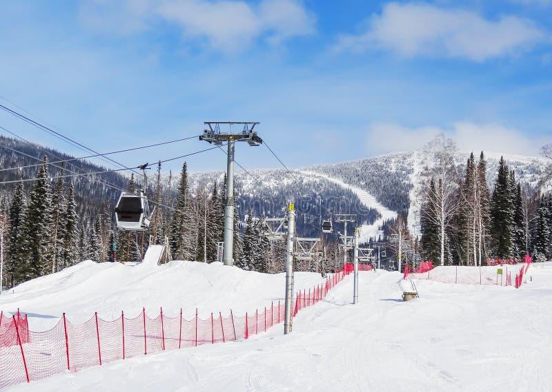 Estância de esqui Sheregesh fotos de stock royalty free
