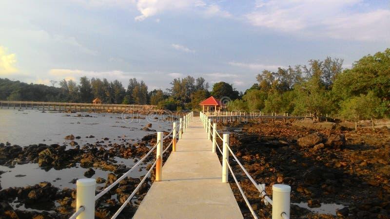 Estância de verão de Tanjung Balau fotografia de stock