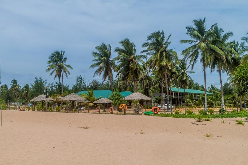 Estância de verão em Nilaveli perto de Trincomalee, Lan de Sri fotografia de stock royalty free
