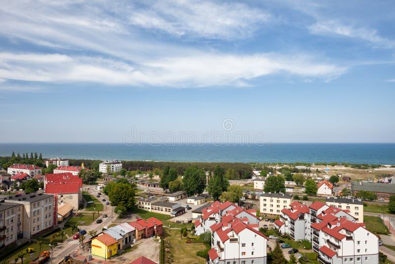 Estância turística de Wladyslawowo no Polônia fotos de stock royalty free