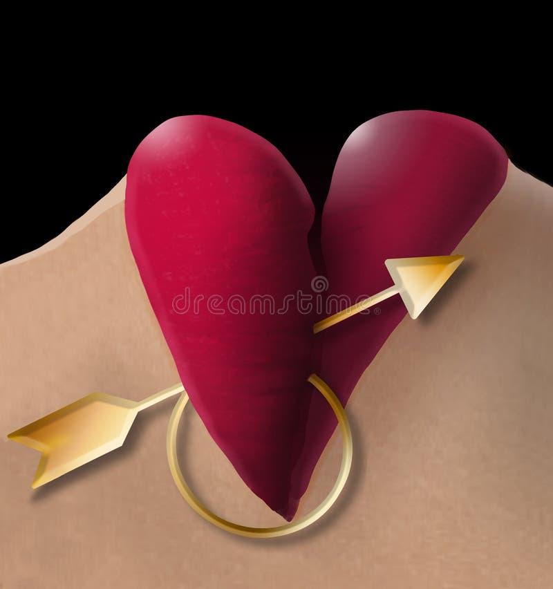 Estão aqui os bordos fêmeas com batom vermelho que olham como um coração do dia de Valentim fotografia de stock royalty free