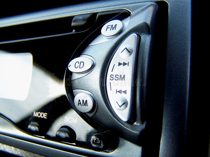 Estéreo do carro imagens de stock royalty free