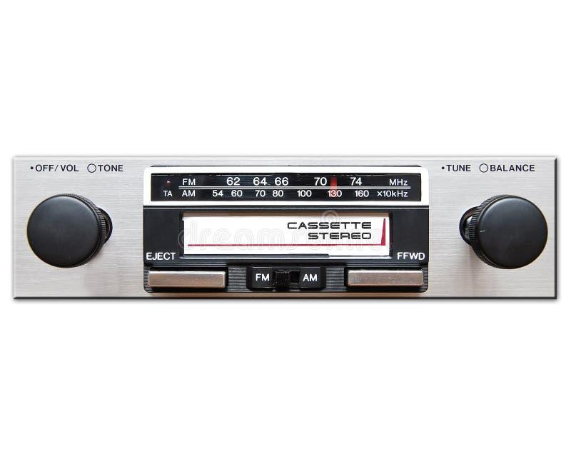 Estéreo do carro do vintage foto de stock