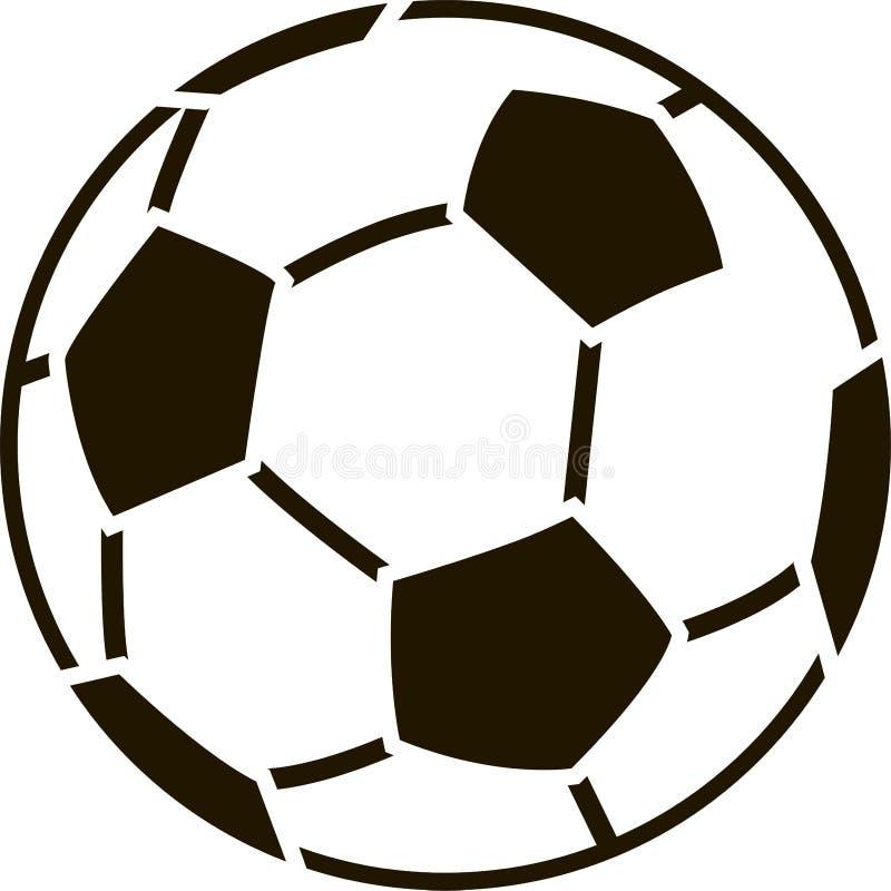 Estêncil da bola de futebol ilustração do vetor