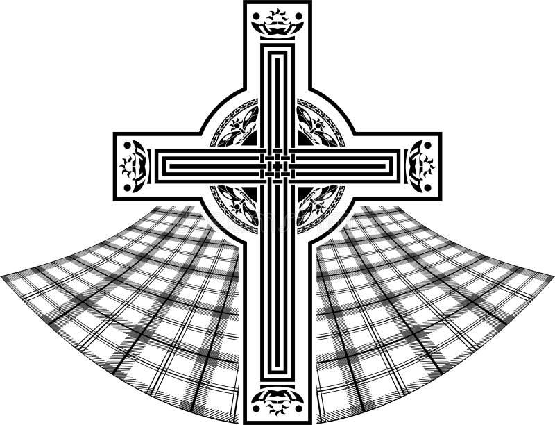Estêncil da cruz celta escocesa ilustração royalty free