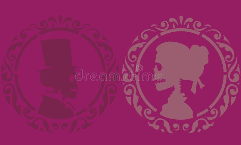 Estêncil de esqueleto do amor ilustração stock