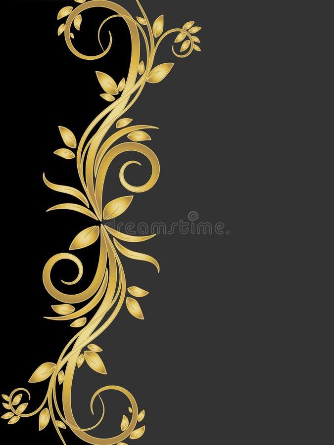 Estêncil de flores do ouro ilustração stock