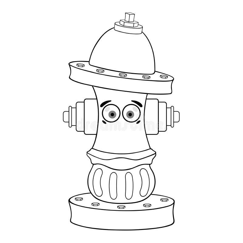 Estêncil de um hydranе do fogo ilustração royalty free