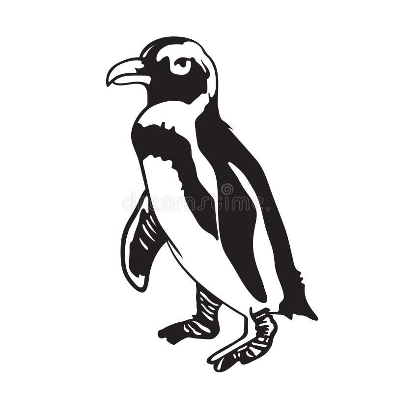 Estêncil de um pinguim foto de stock royalty free