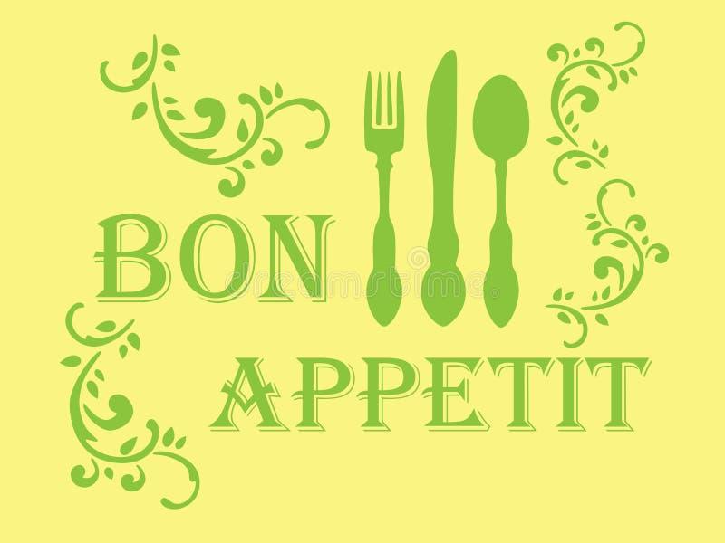 Estêncil do appetit do Bon ilustração royalty free