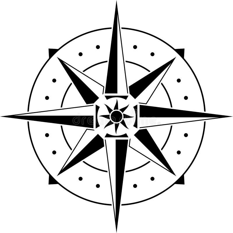 Estêncil do compasso ilustração royalty free