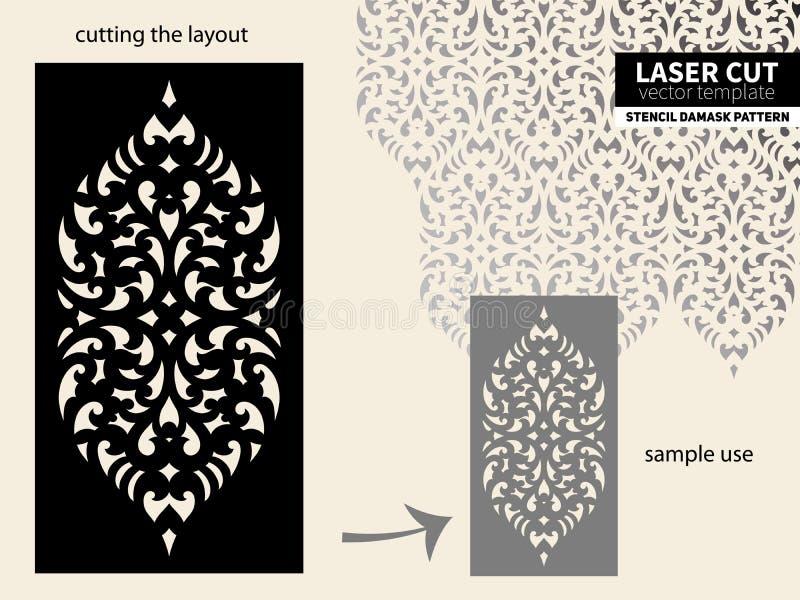 Estêncil do teste padrão do corte do laser ilustração do vetor