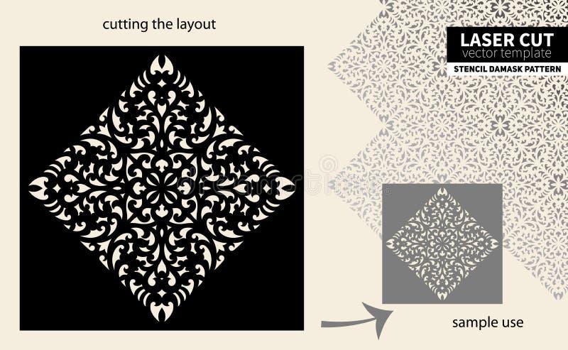 Estêncil do teste padrão do corte do laser ilustração stock