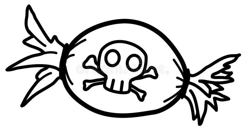Estêncil dos doces da morte ilustração do vetor
