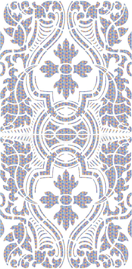 Estêncil floral ilustração do vetor