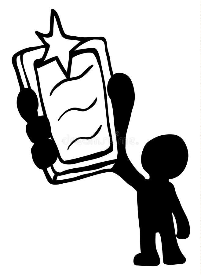 Estêncil instantâneo do homem do telefone ilustração royalty free