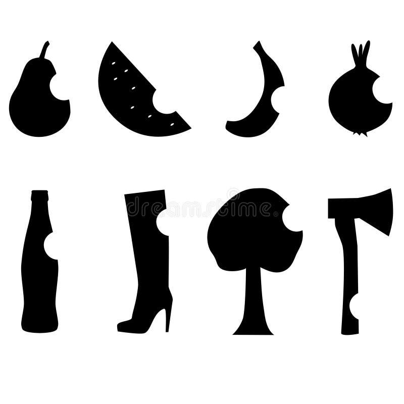 Estêncil preto ilustração royalty free