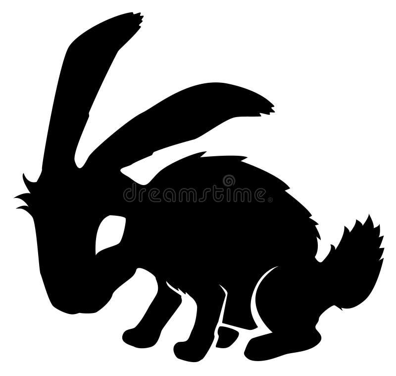 Estêncil preto do coelho ilustração royalty free