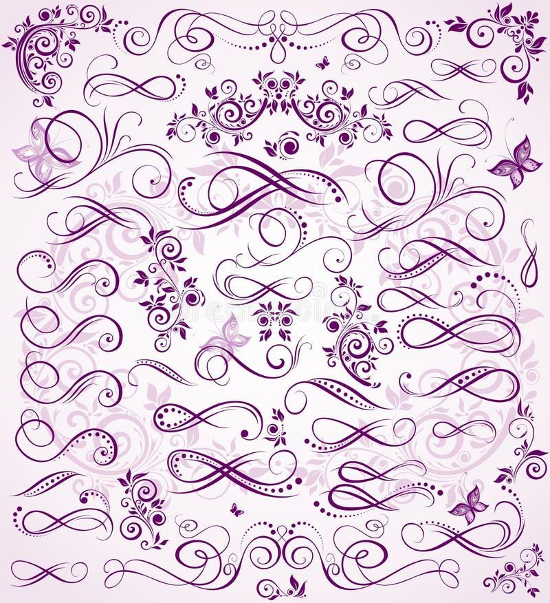 Estêncil violeta do casamento ilustração do vetor