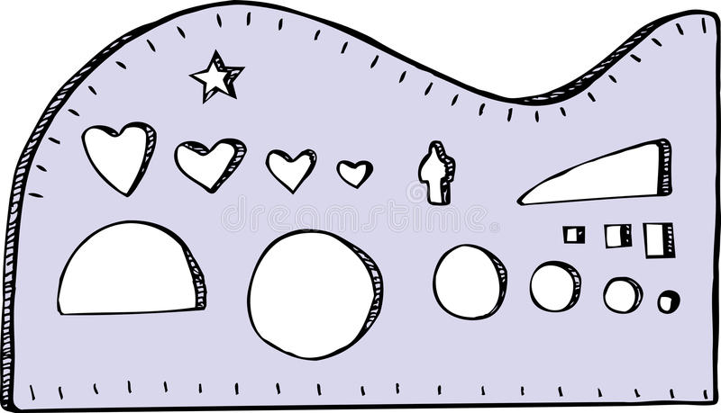 Estêncis ilustração royalty free