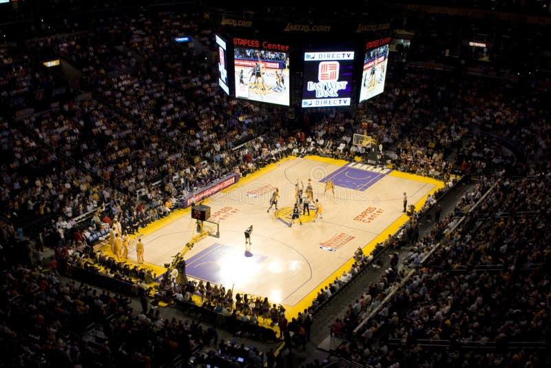 Estímulos de Lakers fotografía de archivo