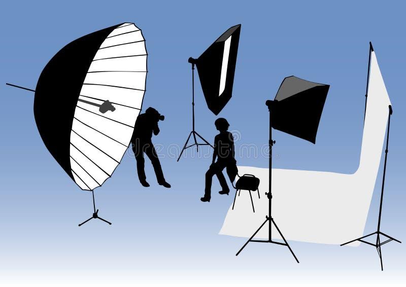 Estúdio da foto ilustração stock