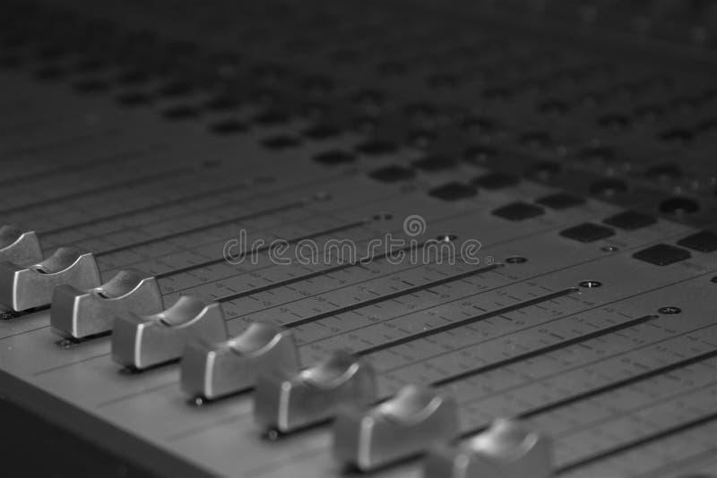 Estúdio de gravação Soundboard imagem de stock
