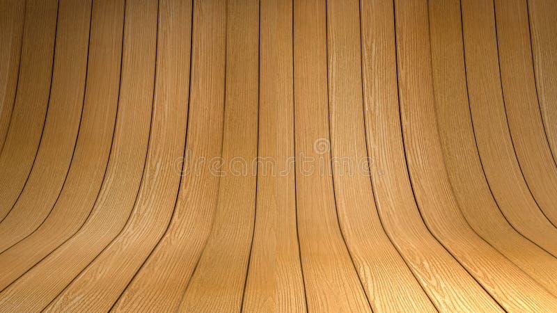 Estúdio de madeira vazio imagem de stock royalty free