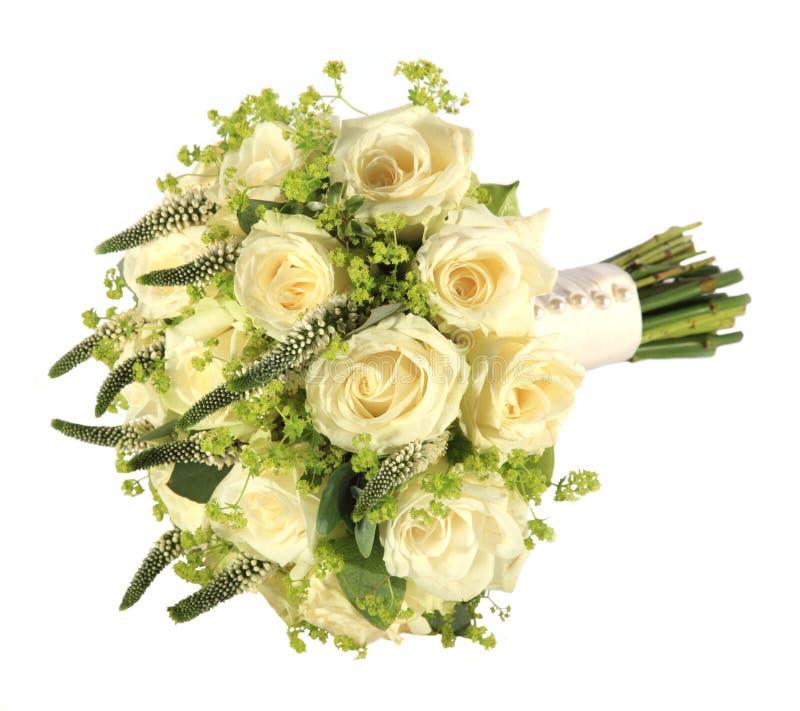 Estúdio disparado do ramalhete do casamento de uma noiva foto de stock royalty free