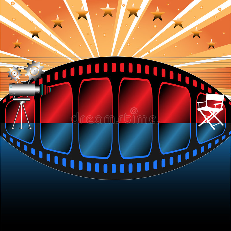 Estúdio do filme ilustração do vetor