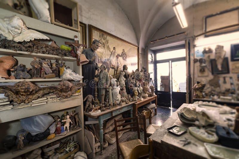 Estúdio, esculturas e estátuas do artista ilustração do vetor